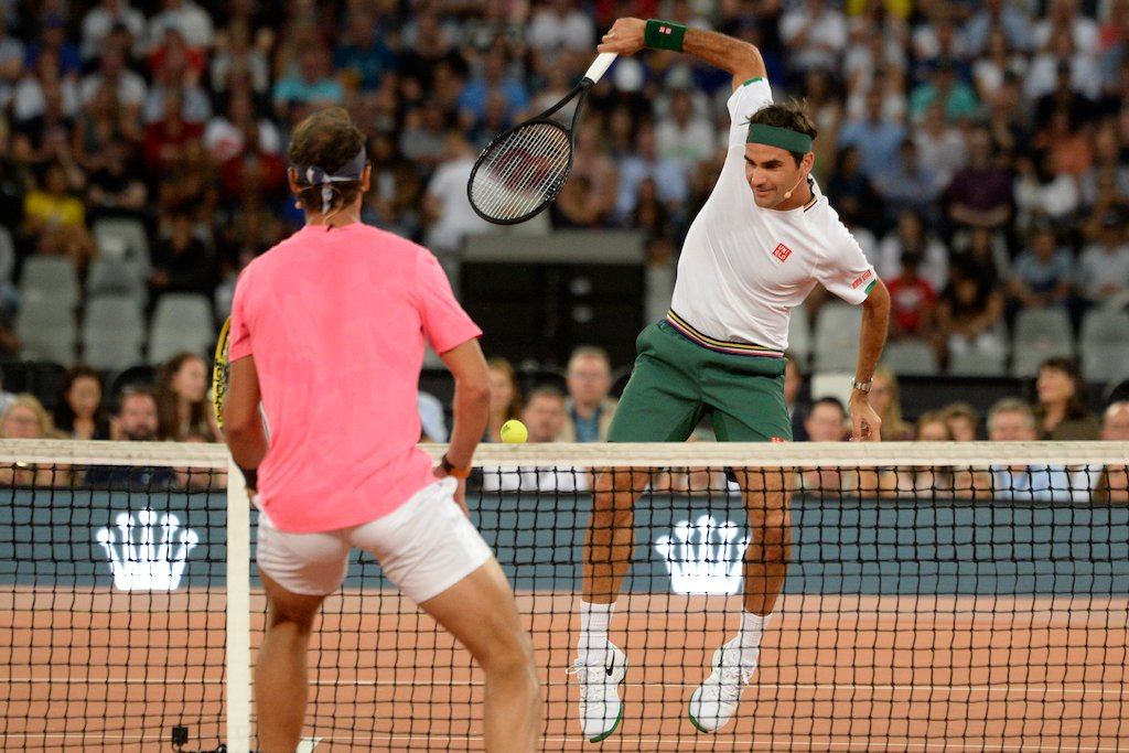 In Pictures Federer Nadal Play To Record Crowd In Cape Town Enca