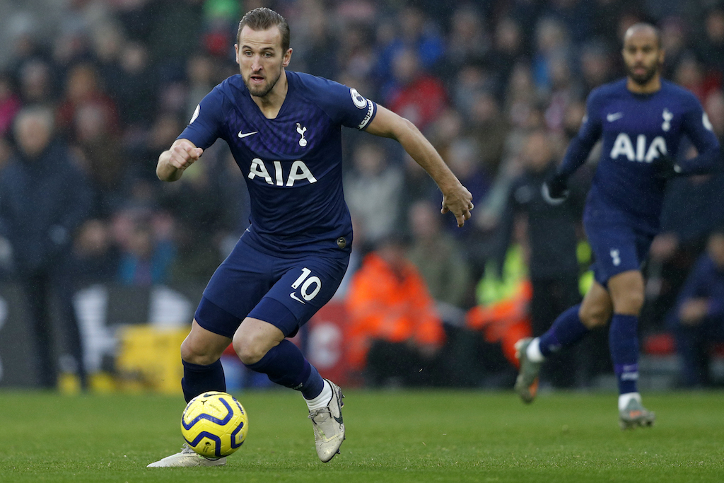 Harry Kane has been sidelined since suffering a torn hamstring tendon in Tottenham's New Year's Day defeat at Southampton.