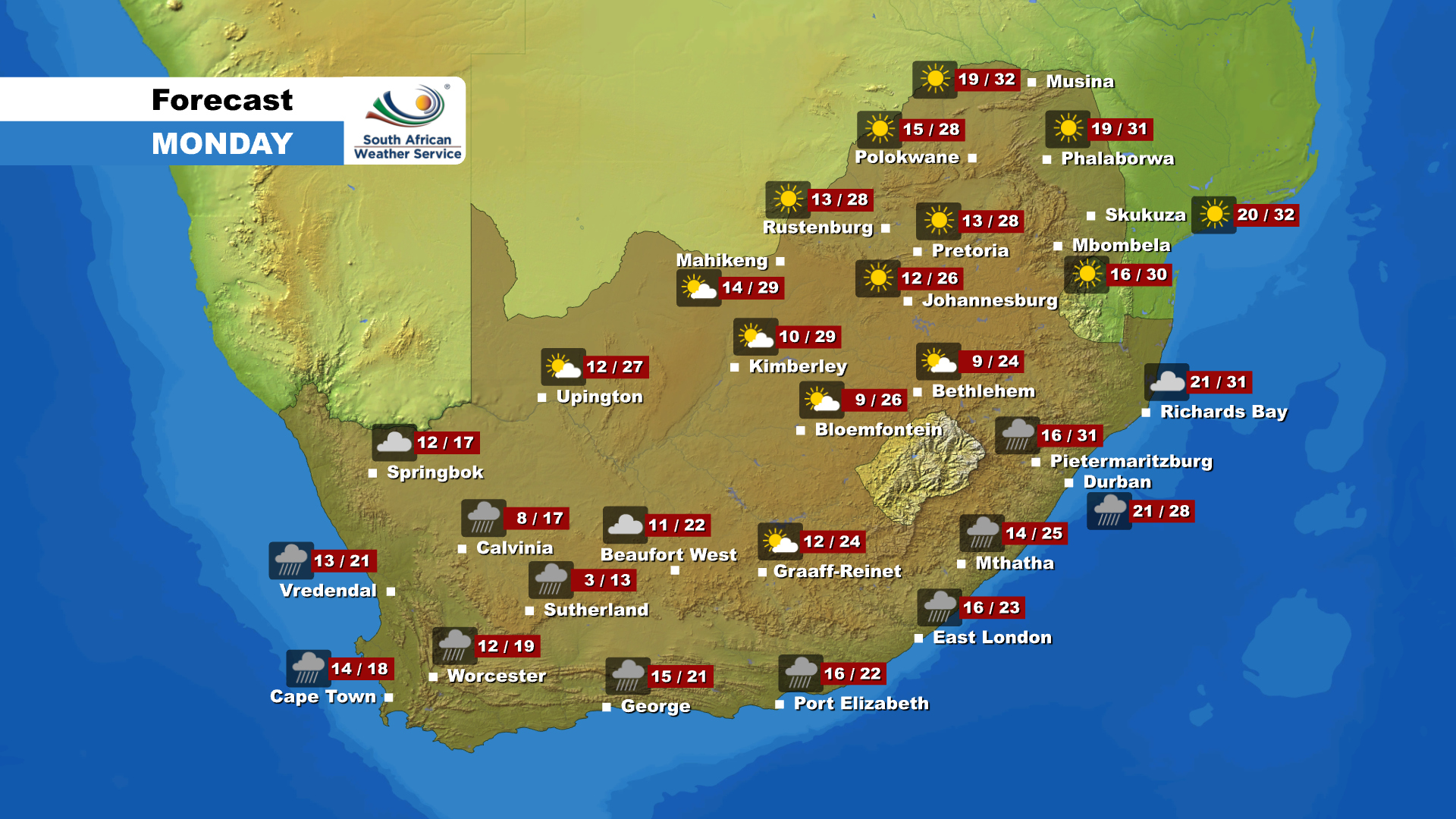 You can now also get your latest weather updates for #SouthAfrica on the eNCA website. Just follow this link: https://enca.com/weather-report