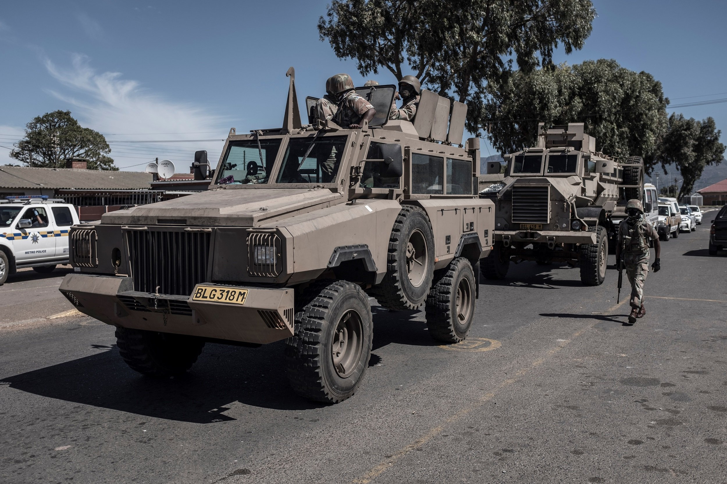 File: President Cyril ​​​​​​​Ramaphosa said an additional 73,180 members of the Regular, Reserve and Auxiliary forces will be deployed.