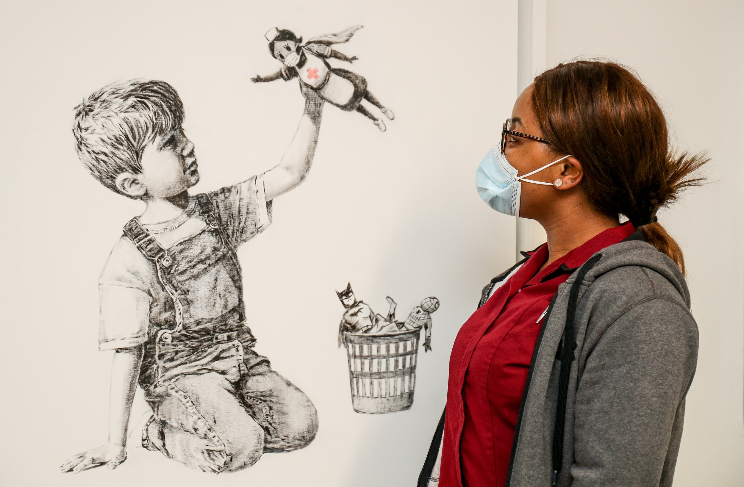 New Banksy Artwork Pays Tribute to Frontline Staff and NHS Workers
