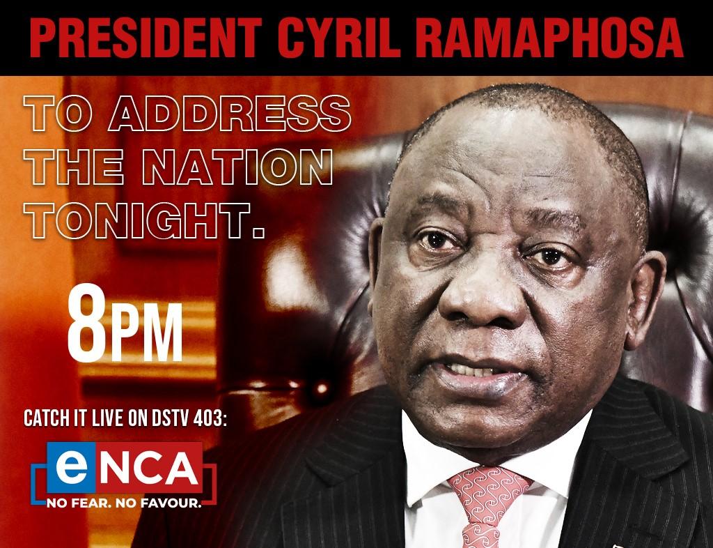 Livestream President Cyril Ramaphosa Addresses The Nation Enca