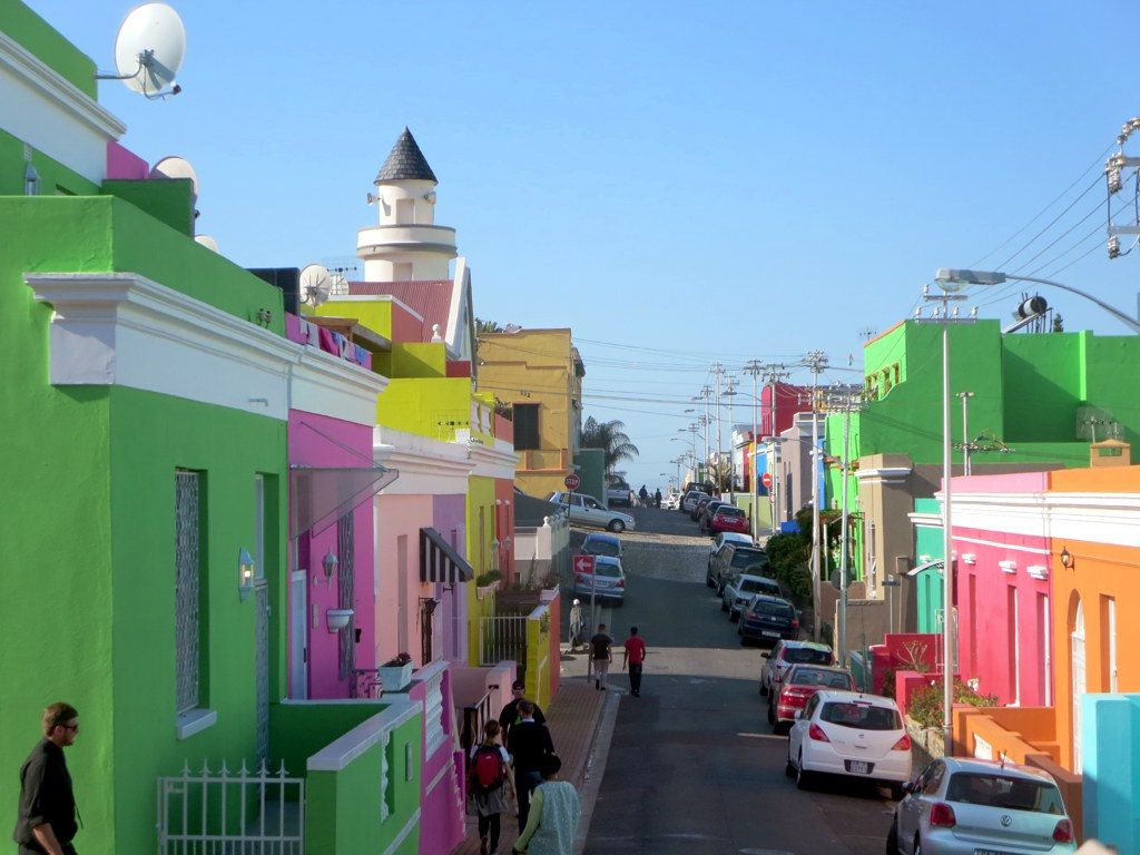 File: The Bo-Kaap neighbourhood of Cape Town is inhabited by predominately Muslim Cape Malay people. Chiappini Street is a visible reminder of this colorful heritage.