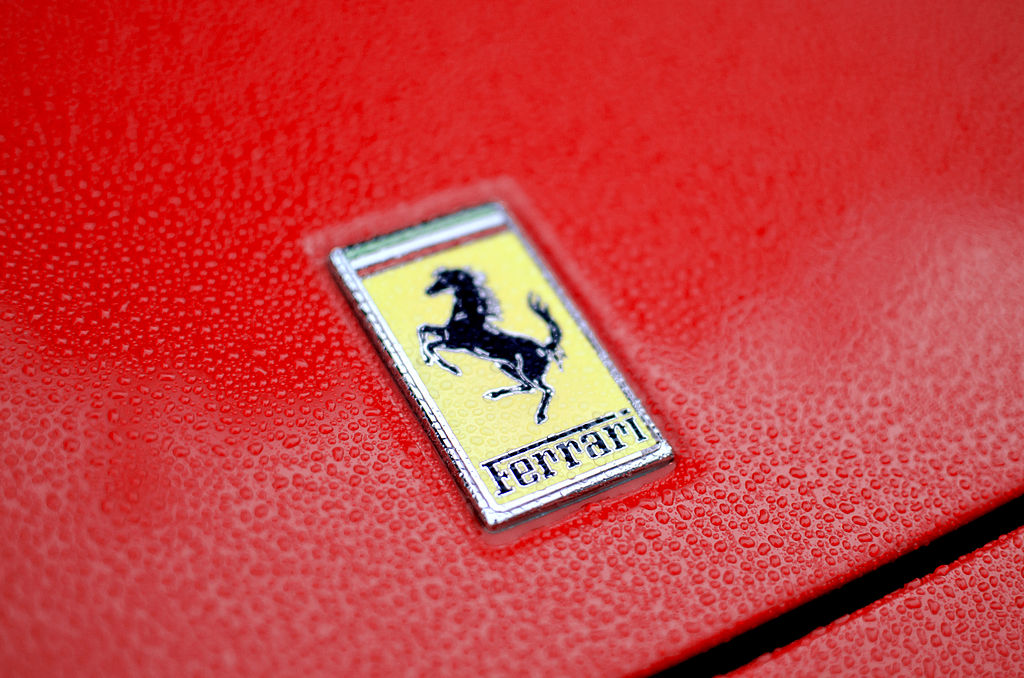 File: Ferrari's shares slumped nearly seven percent at one point as automakers got pummelled in the global sell-off.