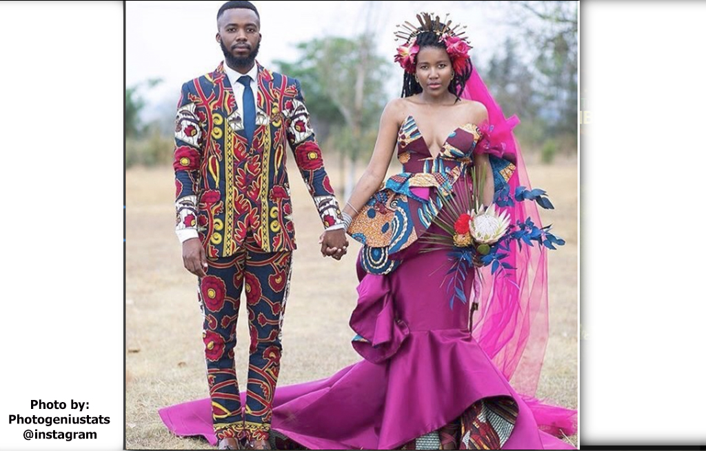 African Wedding Gowns: Local Designer Weds Beau In Bohemian African Wedding