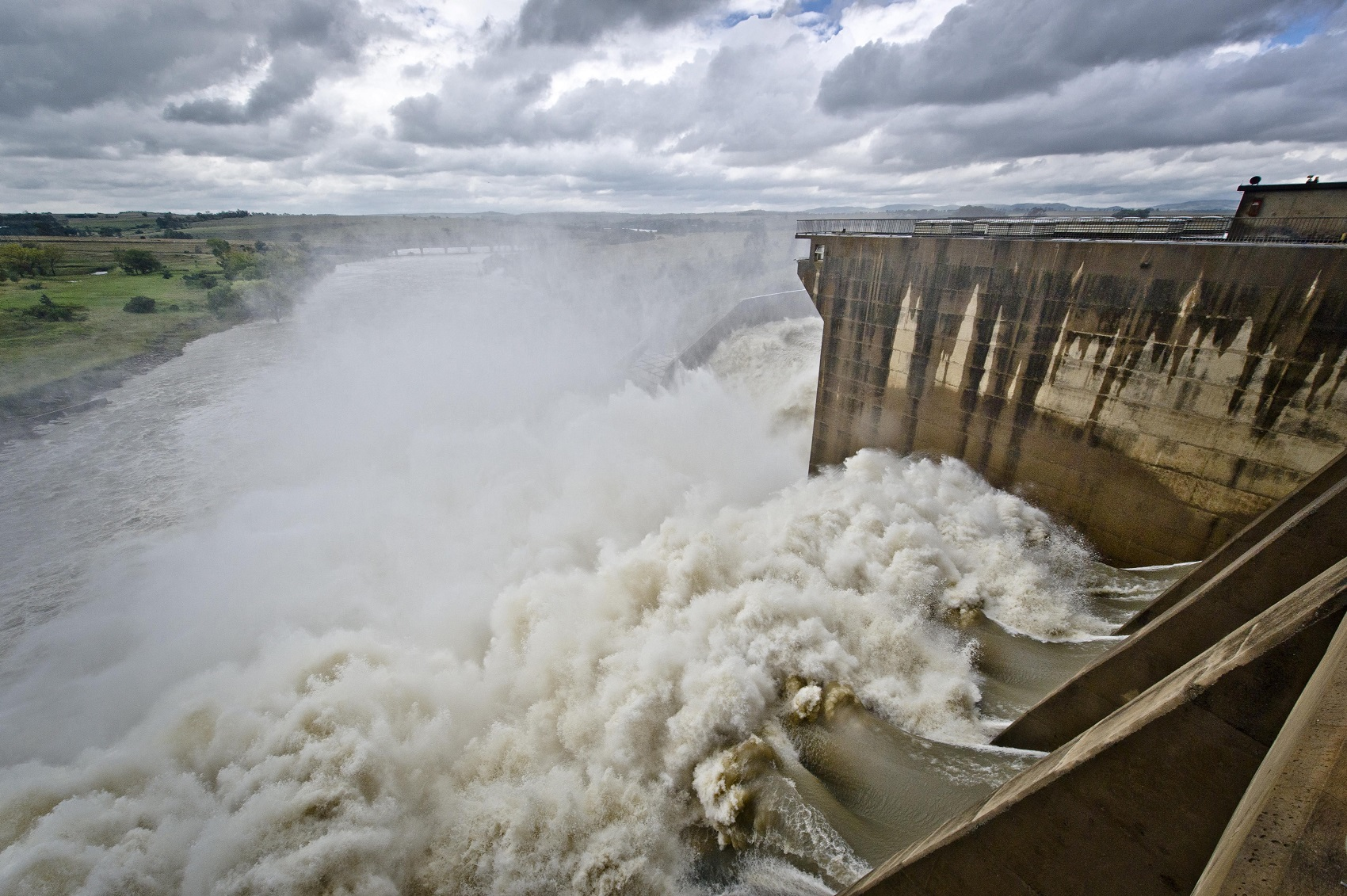 A general view of rising water at the Vaal Dam
