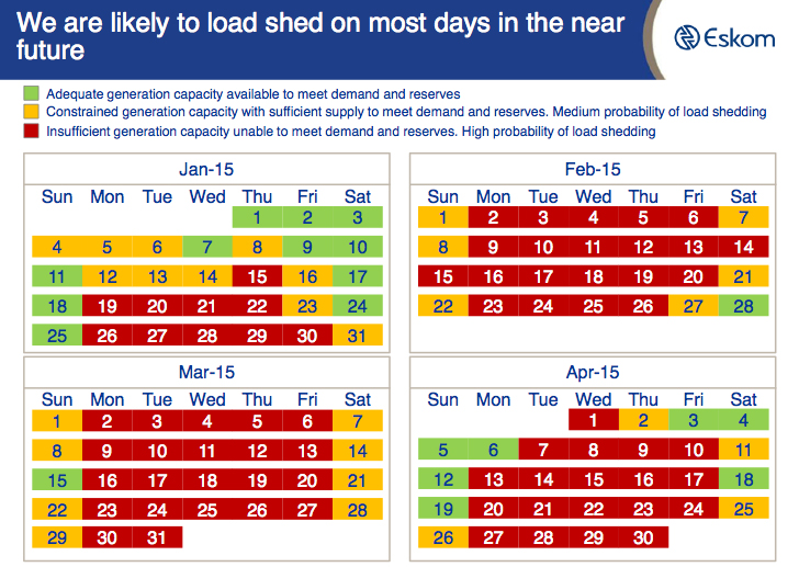 Load Shedding Schedule 2019: When Load-shedding Hits, This Is What It Will Look Like