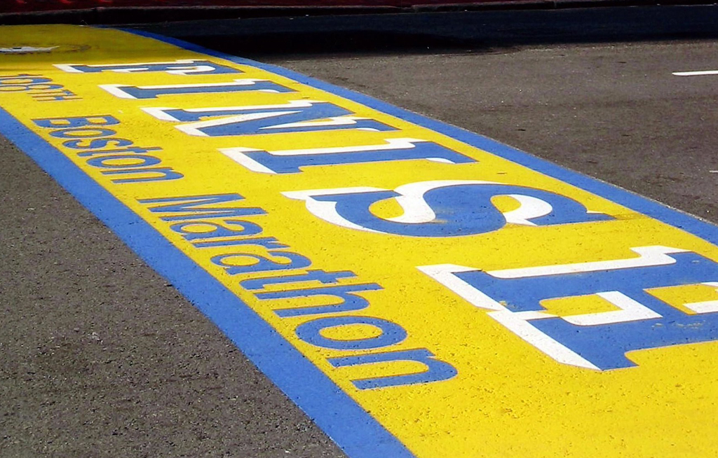 File: The Boston Marathon was supposed to get underway on 20 April, but it was postponed to 14 September.