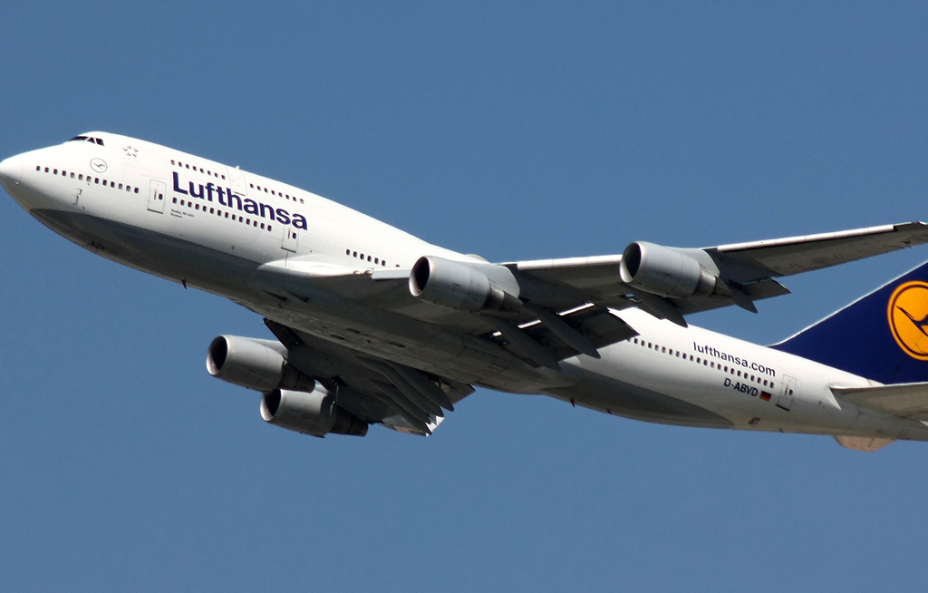 File: German airline Lufthansa expects passenger numbers to rise about 4 percent this year.