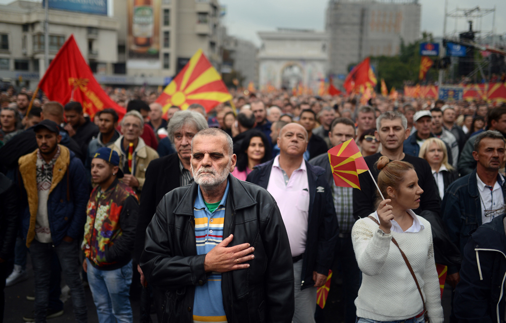 Several thousand march against government in Macedonia   eNCA