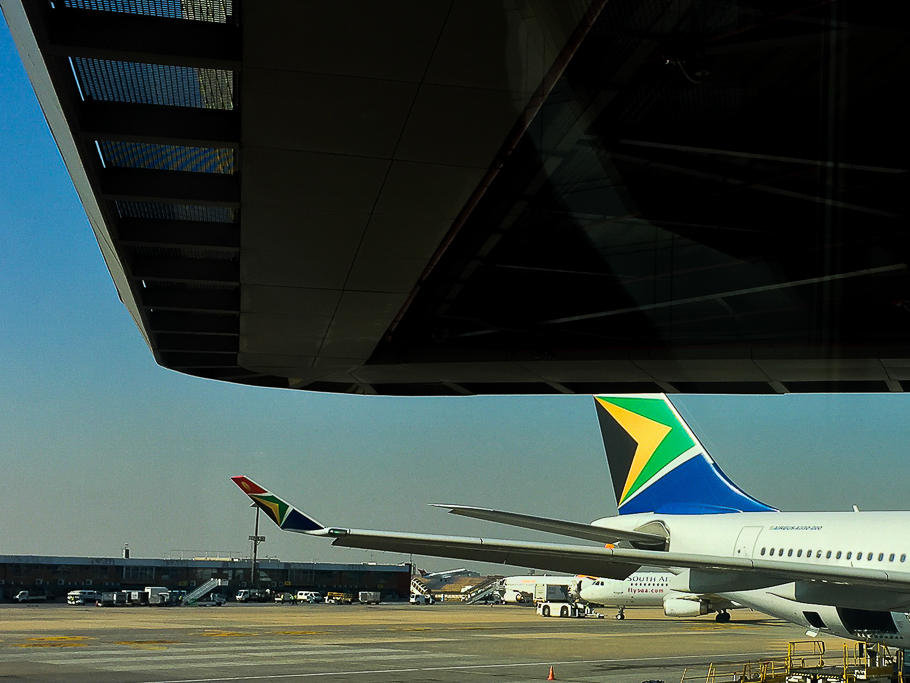 STOCK IMAGE: SAA, South African Airways, ORT Airport,Oliver Reginald Tambo International Airport.