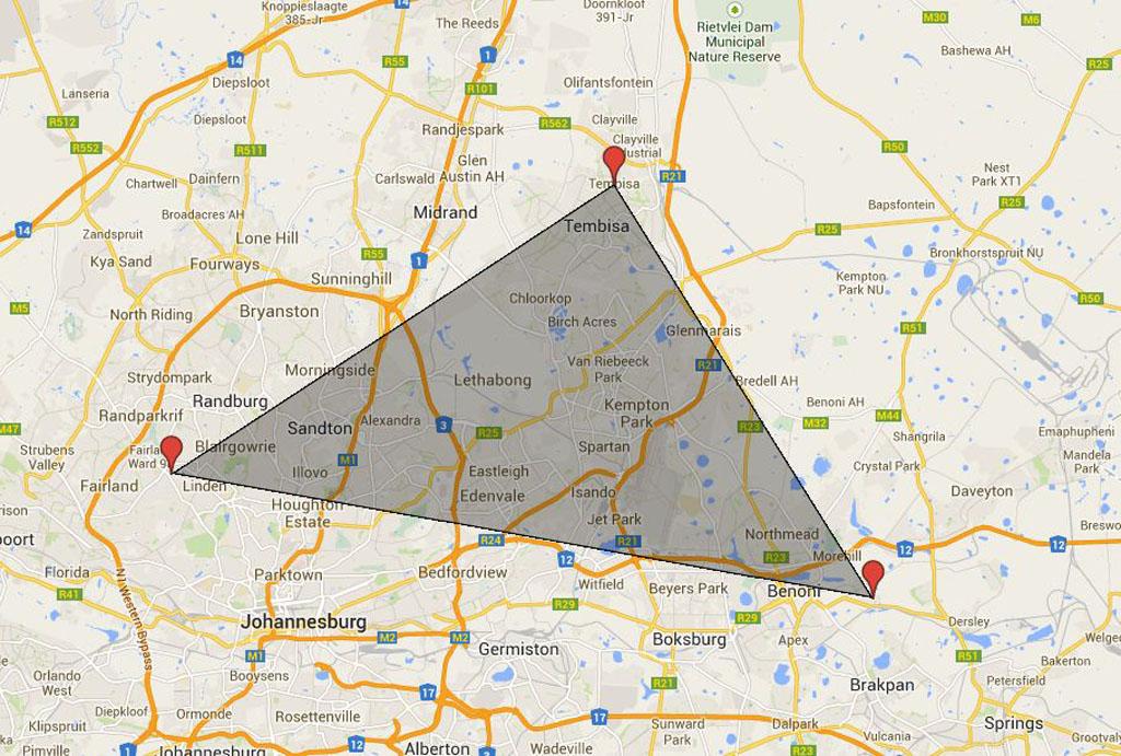 MAP: Trio of JHB robberies | eNCA