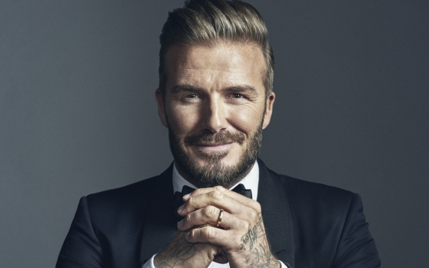 Beckham red faced after James Corden prank