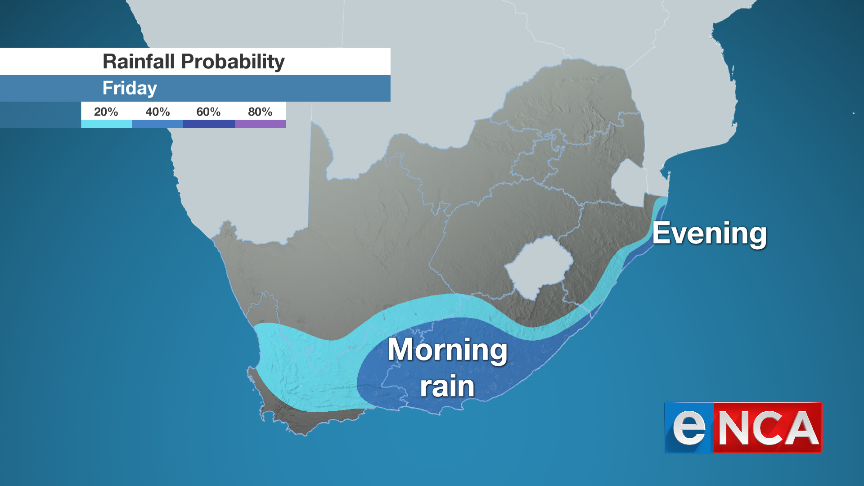Rain forecast for 5 July