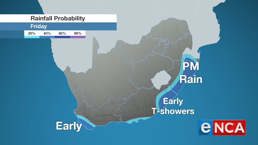 Rainfall for 13 September 2019