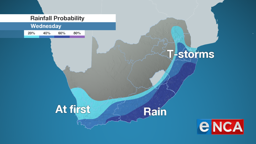 Rainfall for 9 October 2019