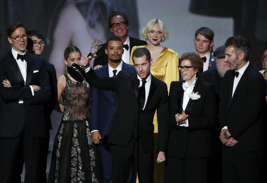 Game of Thrones wins the Emmy for Outstanding Drama Series. REUTERS/Mario Anzuoni