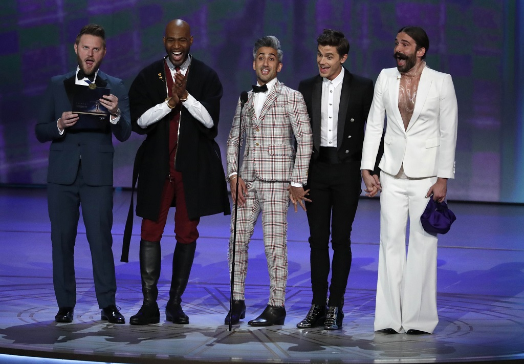 Cast of Queer Eye presents Outstanding Lead Actor in a Drama series. REUTERS/Mario Anzuoni