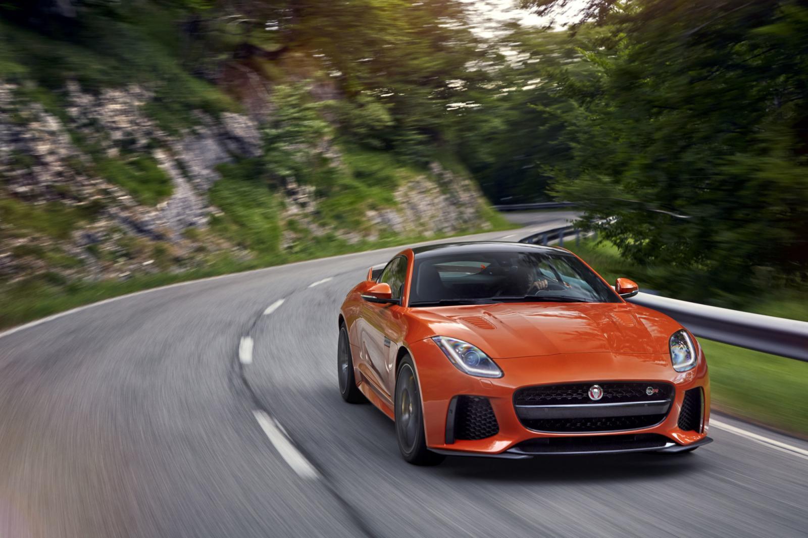 Web_photo_jaguar_f Type_coupe_svr_front. The 2016 Jaguar F Type SVR