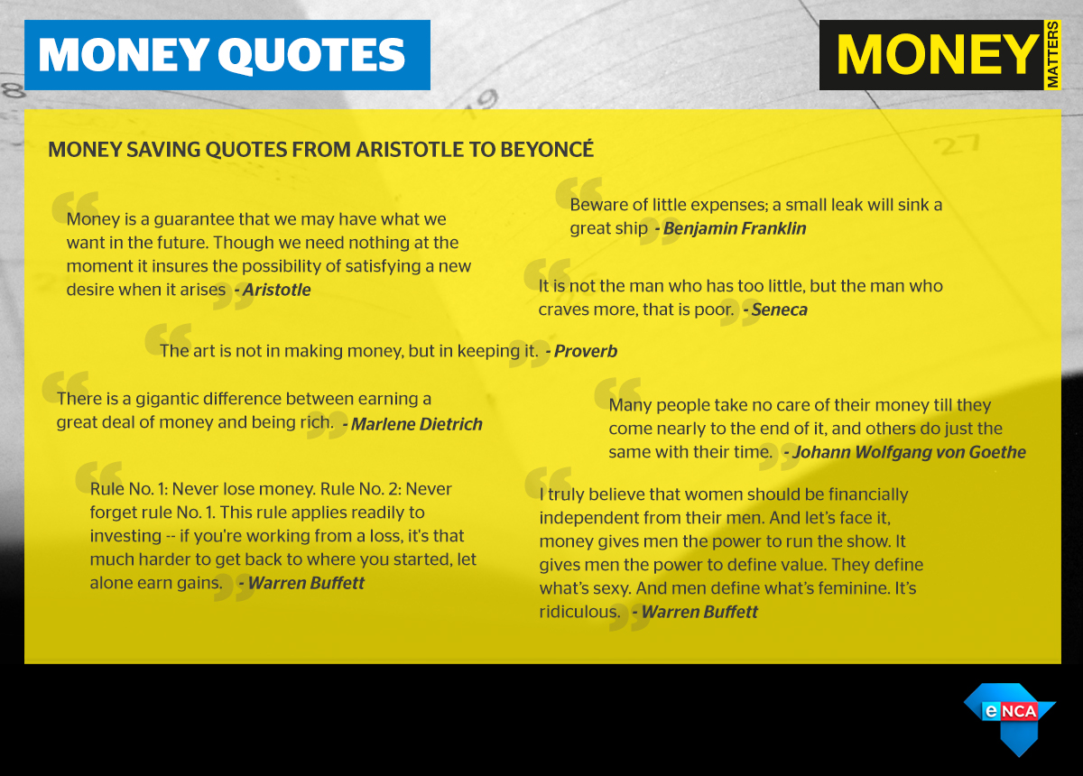 money quotes from aristotle to beyonce enca