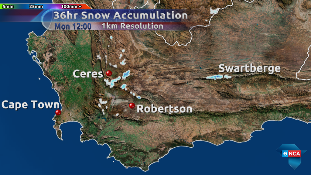 First Sight Of Snow For Western Cape Enca