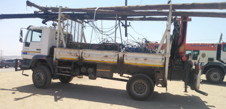 Eskom officials and technicians removed illegal connections in Diepsloot