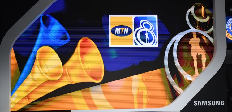 MTN 8 branding during the 2020 MTN 8 Launch.