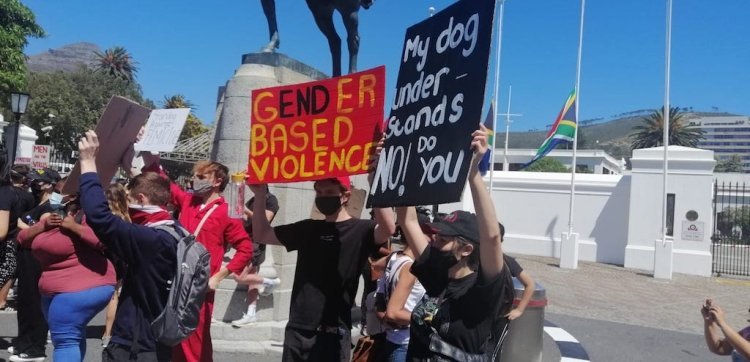Civil organisations in Cape Town protest gender-based violence