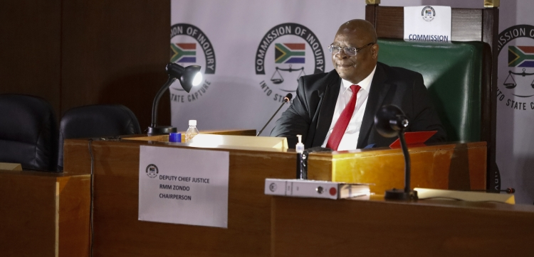 Judge Raymond Zondo at the State Capture Commission