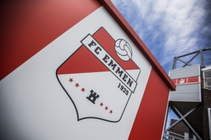 A picture shows a detail of the Stadium De Oude Meerdijk, the home stadium of Dutch football club FC Emmen, on July 31, 2018, in Emmen.