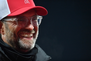 Liverpool's German manager Jurgen Klopp speaks during a television interview after the English Premier League football match between Liverpool and Arsenal at Anfield in Liverpool, north west England on September 28, 2020.