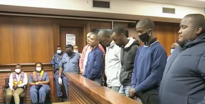 The six men accused of killing Andile Bobo Mbuthu returned to the Verulam Magistrate's Court.