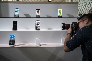 FILE: NEW YORK, NY - OCTOBER 9: A guest photographs the new Google Pixel 3 and Pixel 3 XL smartphones during a Google product release event, October 9, 2018 in New York City
