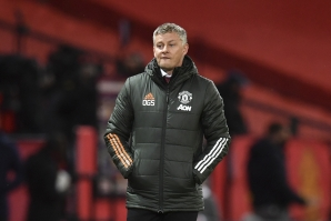 File: Manchester United's Norwegian manager Ole Gunnar Solskjaer reacts on the touchline during the English Premier League football match between Manchester United and Arsenal at Old Trafford in Manchester, north west England, on November 1, 2020. Paul ELLIS / POOL / AFP