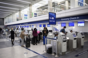 Holiday travelers pass through Los Angeles international Airport on Thanksgiving eve