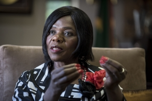 File: Former South African Public Protector Thuli Madonsela. AFP PHOTO / STEFAN HEUNIS