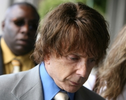 In this file photo music producer Phil Spector arrives for his murder trial at the Los Angeles Superior Court in Los Angeles on September 20, 2007.