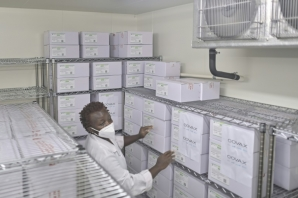 Chill factor: Kenya's first batch of Covid vaccines is being kept in a special cold store in Nairobi