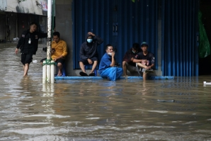 Floods like this one in Jakarta in February 2021, are seen as a major risk