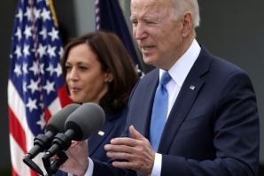 """I think it's a great milestone, a great day,"" said US President Joe Biden of America's decision to lift indoor masking guidelines"
