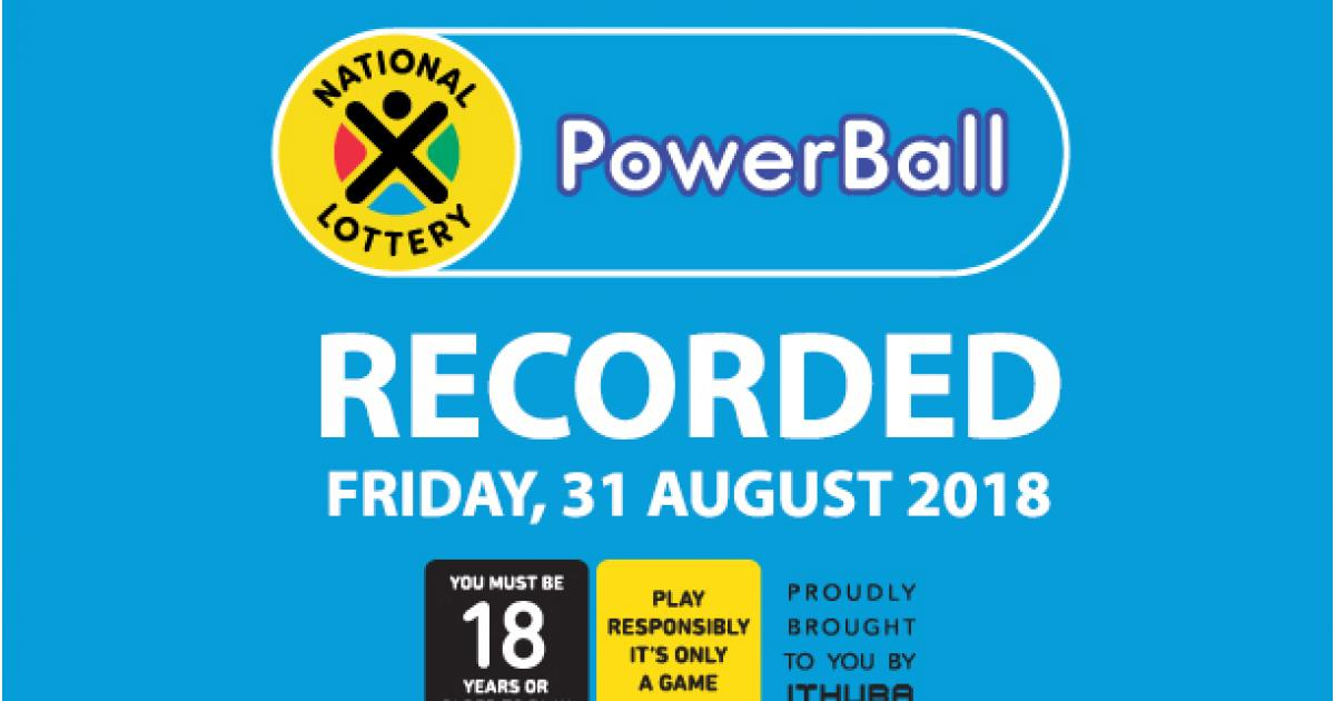 Powerball Results - 31 August 2018 | eNCA