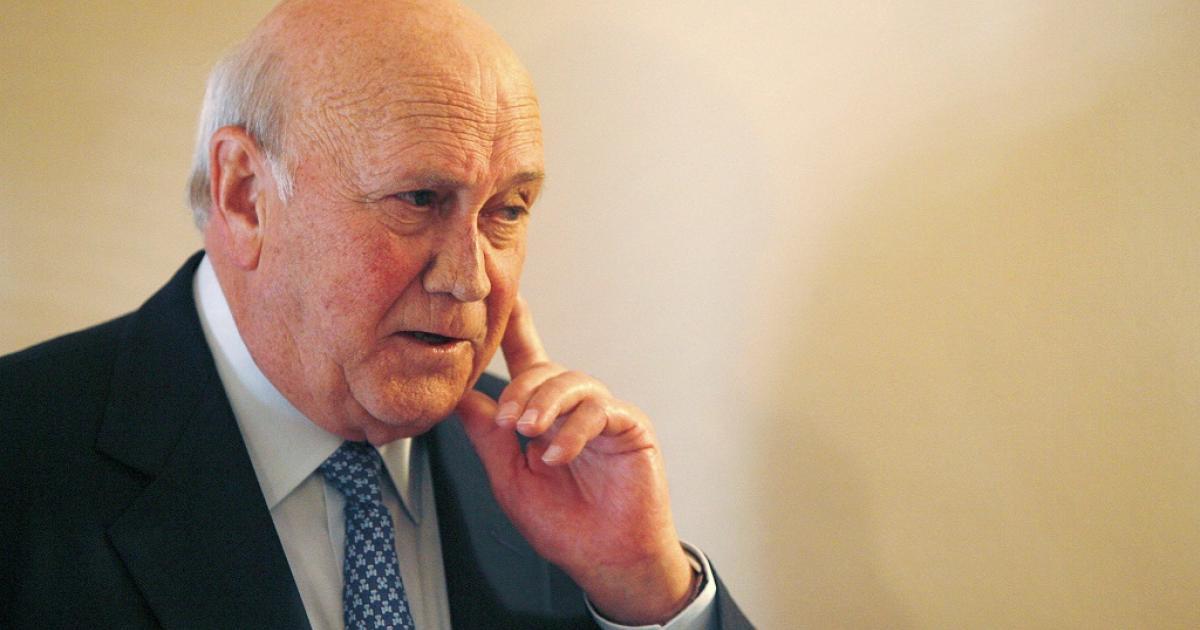 De Klerk: Zuma damaged South Africa