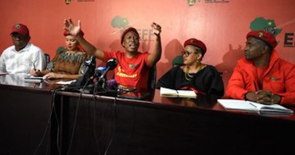 Malema smeek vergifnis van ander Afrikane - eNCA