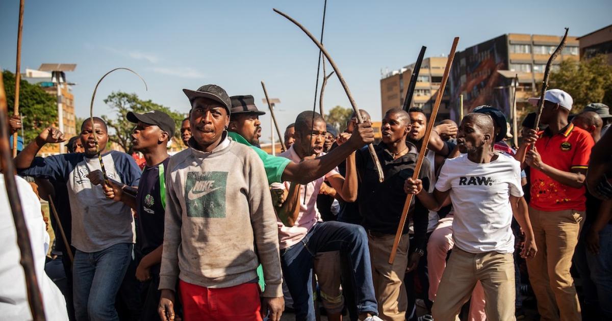 Koshuisinwoners protesteer teen buitelanders - eNCA