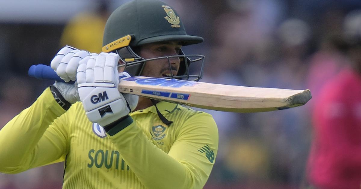 Pressure on De Kock ahead of Australia ODI series