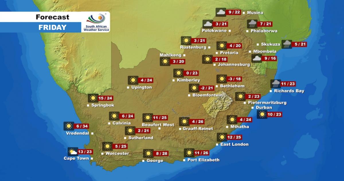 weather enca forecast friday