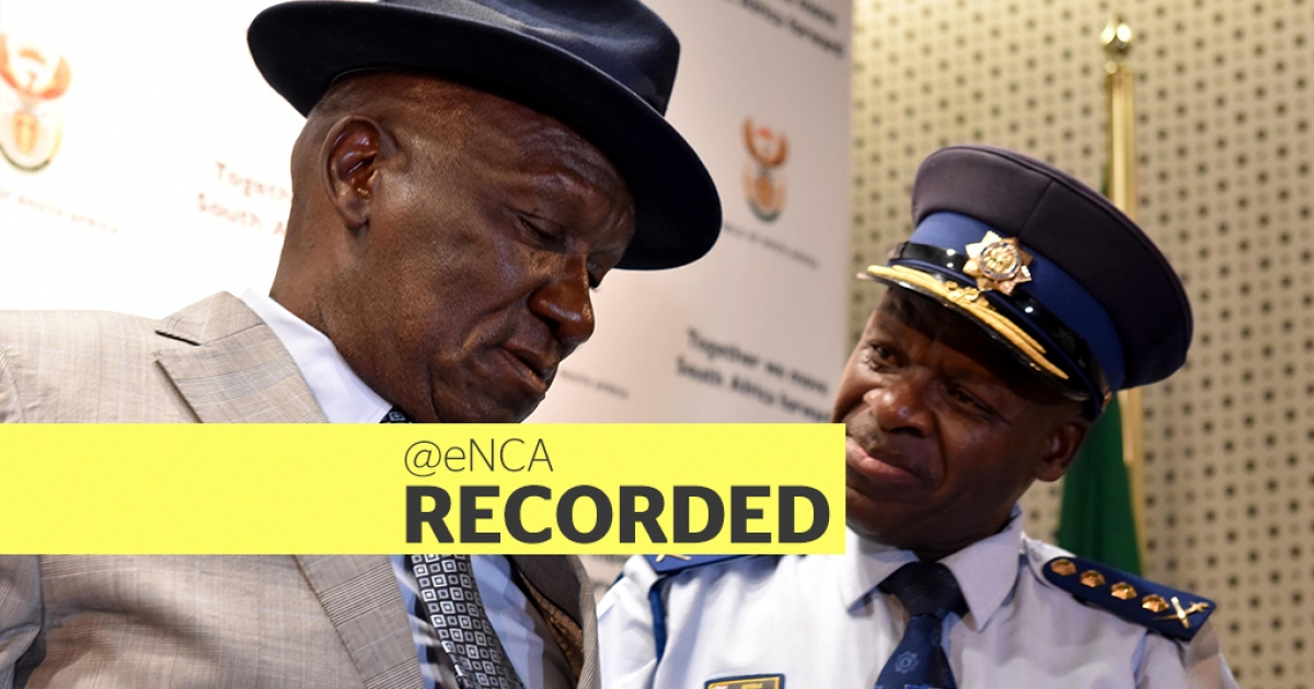 WATCH: Cele addresses police officers - eNCA