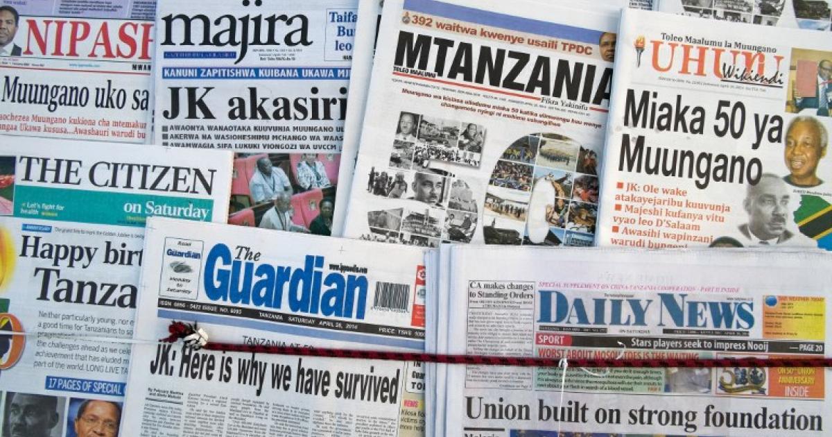 Tanzania Shuts Down Mwanahalisi Newspaper Enca