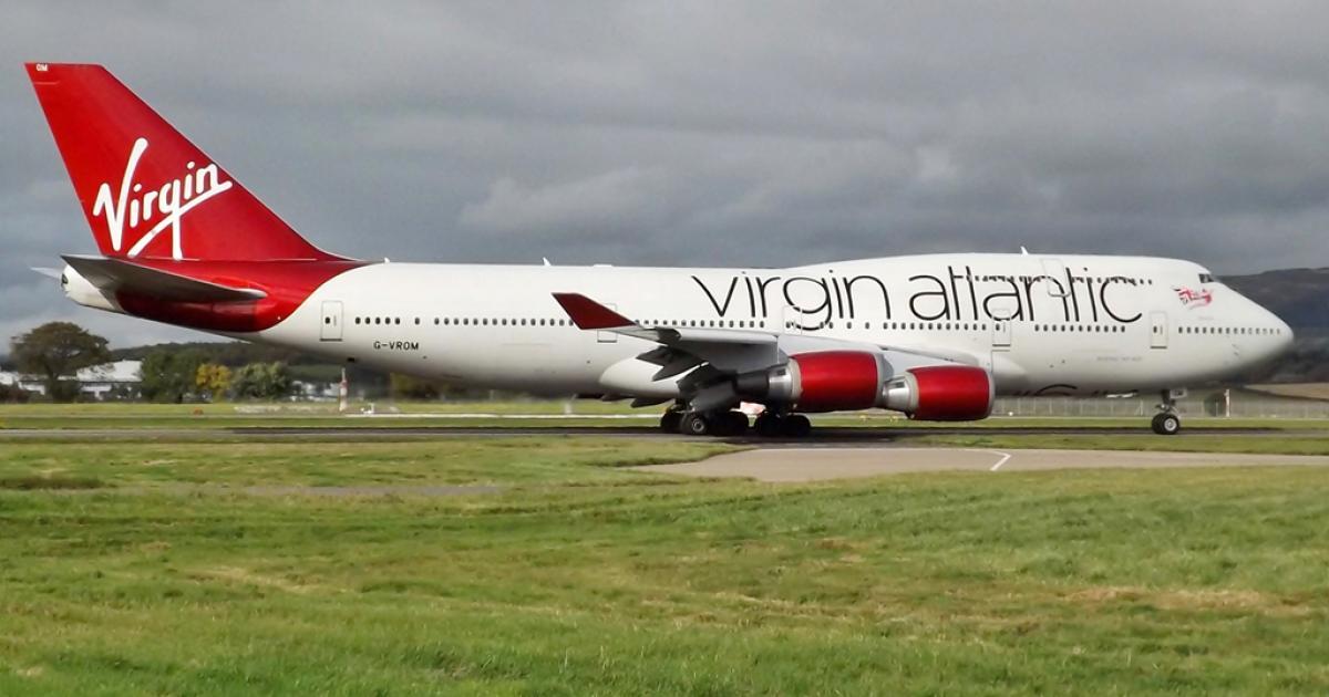 Virgin Atlantic flight makes 'non-standard landing' at UK