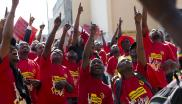 File: The Congress of South African Tarde Unions (Cosatu) is mobilising for a national strike over retrenchments, both in the public and private sector.